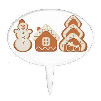 gingerbread cake toppers