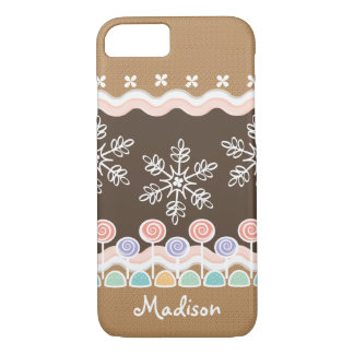 Gingerbread Candyland Winter Wonderland iPhone 8/7 Case