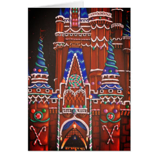 Gingerbread Castle Holiday Card