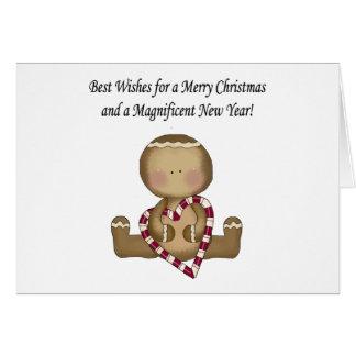 Gingerbread Christmas Card