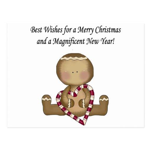 Gingerbread Christmas Card Postcards