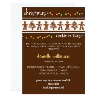 Gingerbread Christmas Cookie Exchange Invitation
