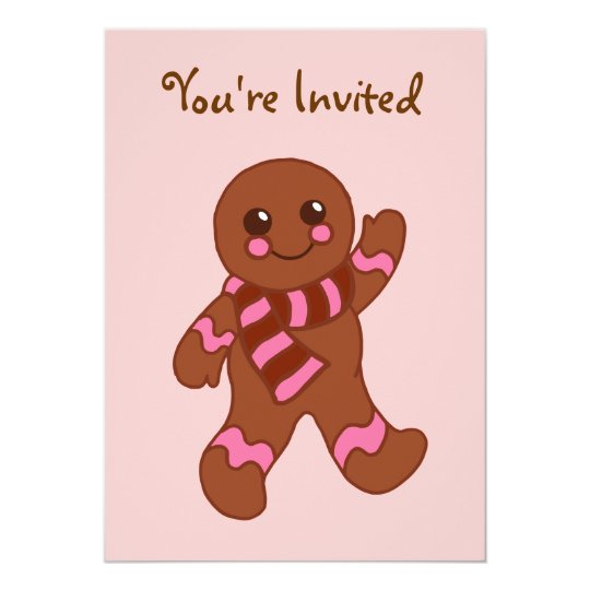 Gingerbread Christmas Cookie Party Invitations
