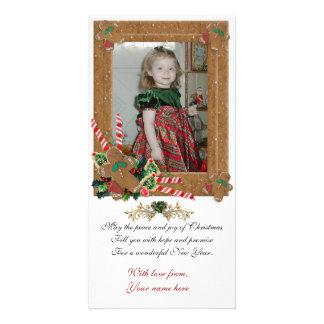 Gingerbread Christmas photo card