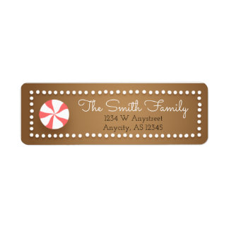 Gingerbread Christmas Return Address Labels