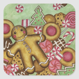 Gingerbread Christmas Sticker
