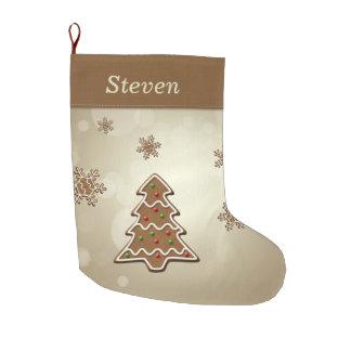 Gingerbread Christmas Tree - Christmas Stocking