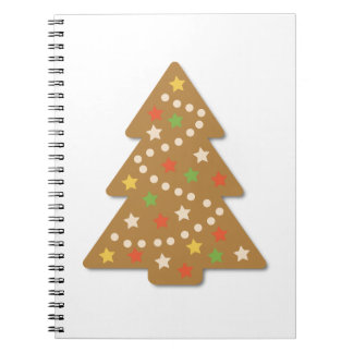Gingerbread Christmas Tree Spiral Notebook