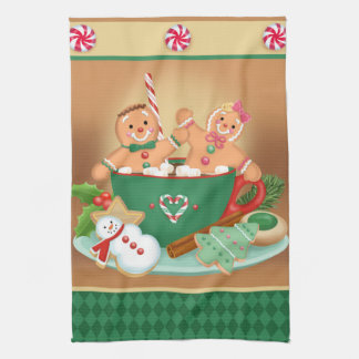 Gingerbread Cocoa Kitchen Towel