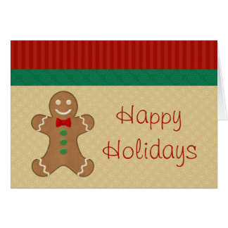 Gingerbread Cookie Christmas Cards