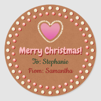 Gingerbread Cookie Customised Xmas Gift Label