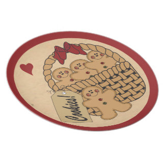 Gingerbread Cookie Decorative Plate Plates