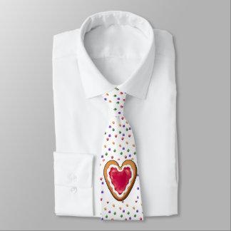 Gingerbread Cookie Heart & Gumdrops Christmas Tie