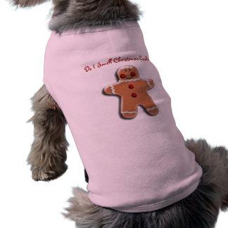 Gingerbread Cookie Sleeveless Dog Shirt