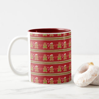 Gingerbread Cookie Two-Tone Coffee Mug