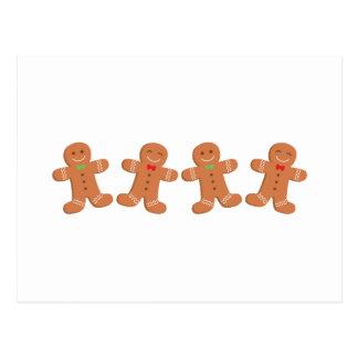 Gingerbread Cookies Border Postcard