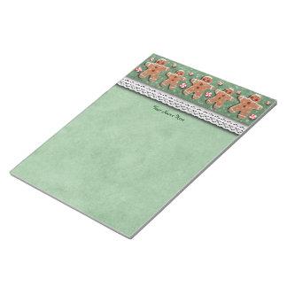 Gingerbread Cookies Candies Green Notepad