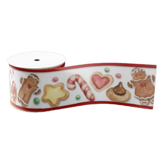 Gingerbread Cookies & Candy Ribbon Grosgrain Ribbon