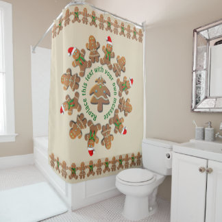 Gingerbread Cookies Celebrating Xmas Shower Curtain