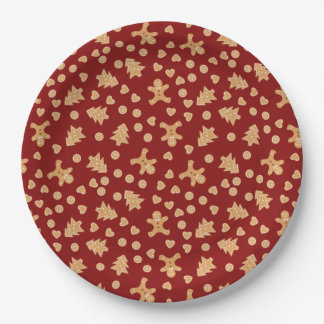 Gingerbread Cookies Holiday Paper Plates