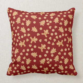Gingerbread Cookies Holiday Pillow