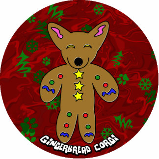 Gingerbread Corgi Christmas Ornament Photo Sculpture Decoration