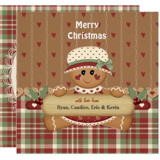 Gingerbread Country Christmas Card