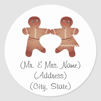 Gingerbread Couple Holiday Address Labels