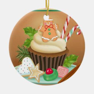 Gingerbread Cupcake Ornament