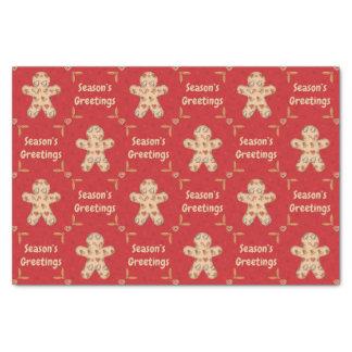 Gingerbread Cutout Seasons Greetings Tissue Paper
