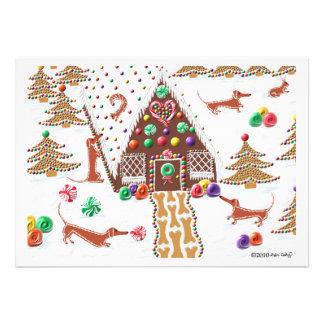 Gingerbread Dachshunds Card