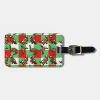 Gingerbread Dinos Luggage Tag