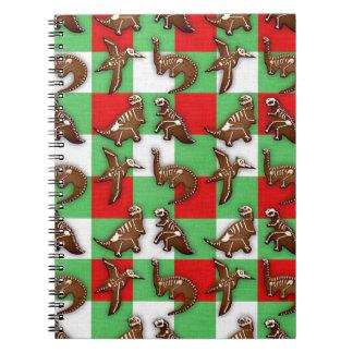 Gingerbread Dinos Notebooks
