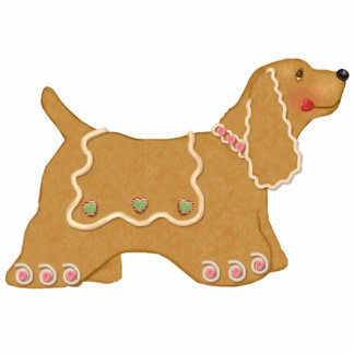 Gingerbread Dog Ornament Photo Sculpture Decoration