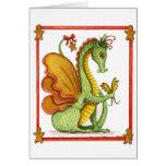 Gingerbread Dragon Greeting Card