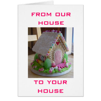 GINGERBREAD EASTER HOUSE GREETINGS FROM US CARD