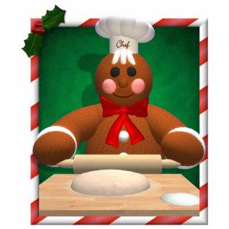 Gingerbread Family: Baker Fun Photo Cutout
