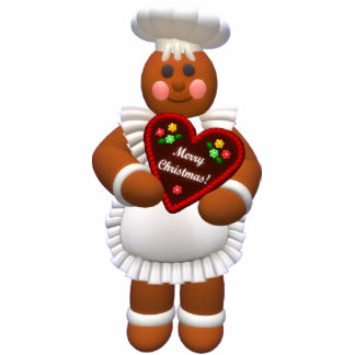 Gingerbread Family: Bakery Girl Photo Sculpture Decoration