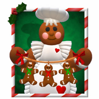 Gingerbread Family: Bakery Girl Cut Outs