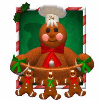 Gingerbread Family: Funny Baker Photo Sculpture Decoration