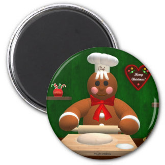 Gingerbread Family: Little Baker Magnet