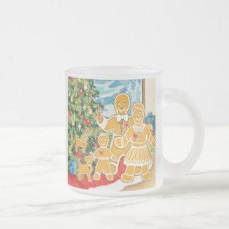 Gingerbread Family With Their Christmas Tree Coffee Mug