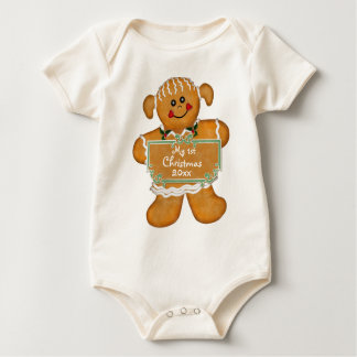 Gingerbread First Christmas Baby Bodysuit