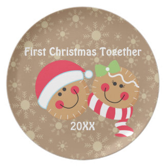 Gingerbread First Christmas Together Plate