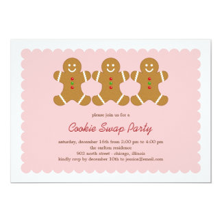 Gingerbread Friends Cookie Swap or Holiday Party Card