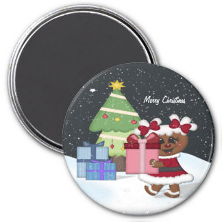 Gingerbread Girl 7.5 Cm Round Magnet