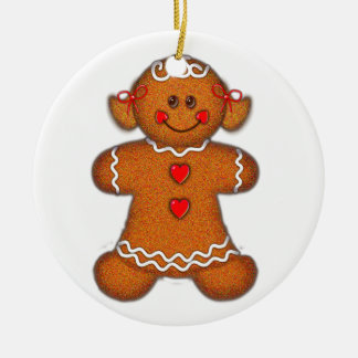 GINGERBREAD GIRL by SHARON SHARPE Ceramic Ornament