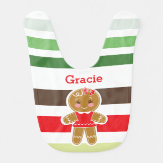 Gingerbread Girl | Christmas Bib