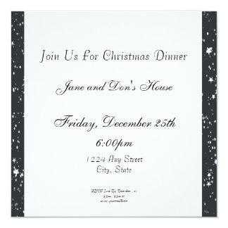 Gingerbread Girl, Christmas Tree, North Pole Sign 13 Cm X 13 Cm Square Invitation Card