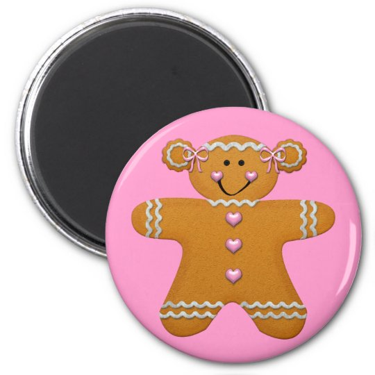 Gingerbread Girl Fridge Magnet
